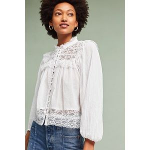 Anthropologie Akemi Kim Carrie White Lace Top 2